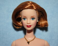GORGEOUS! Short Silky Red Haired Green Eyed NUDE Twist & Turn BARBIE for OOAK