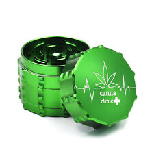 "1X ""canna clinic+""1.97""/50MM CNC Aluminum 4 layers Herb Tobacco Grinder Crusher"