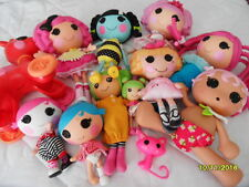 Large Lot Of 4  Dressed Full Size Lalaloopsy Dolls + Lots of extras  (12 total)