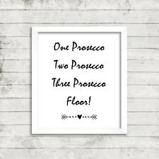 Prosecco Life Inspirational Motivational Quote Picture Print Postcard Card 11