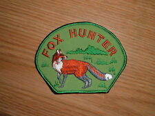 FOX HUNTER EMBROIDERED HUNTING PATCH NOS