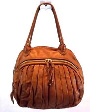 Sabina Women's Hobo Shoulder Bag Purse Brown Leather Large Preowned