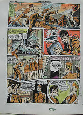 JACK KIRBY Joe Simon CAPTAIN AMERICA #8 pg 16 HAND COLORED ART Theakston 1989