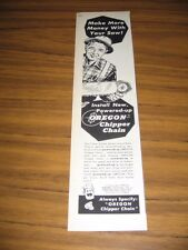 1959 Print Ad Oregon Chipper Chain Saws Omark Industries Portland,Oregon
