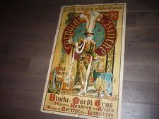 grande affiche 1910 LITHO LES GILLES DE BINCHE BRUXELLES MARDI GRAS BELGIQUE