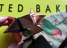 Ted Baker BRACELET / Cuff Rose Gold Leather With Gold Bow & Studs