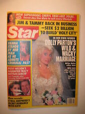 Star Magazine 4-19-1988. Dolly Parton Wedding! Cheryl Tiegs! Vanna White!