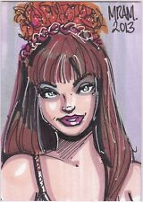 STAR TREK TOS ACEO SKETCH KARA TANYA LEMANI WOLF IN THE FOLD ORIGINAL ART MRAM