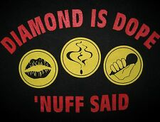 DIAMOND D IS DOPE 'NUFF SAID 1992 Stunts Blunts& hip hop T-shirt vtg 90s DITC XL