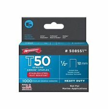 Arrow Fastener Company 508SS1 1/2in. T50 Genuine Stainless Staples 1000/Box