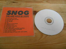 CD Rock Snog - The Last Days Of Rome (13 Song) Promo HYMEN REC