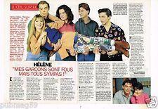 Coupure de presse Clipping 1992 (4 pages) Hélène et Les Garcons Héléne Rolles
