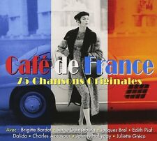 CAFE DE FRANCE - CHARLES AZNAVOUR, EDITH PIAF, JAQUES BREL -  3 CD NEU
