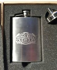 NEW! CHIVAS REGAL 12 YEARS OLD STAINLESS STEEL 4 OZ. HIP POCKET  FLASK - Empty