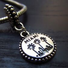 Miami Palm Tree European Charm Pendant Bead For All European Charm Bracelets
