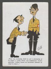 [63824] OLD WWII ANTI-NAZI POSTCARD ARTIST SIGNED A.G. Smits (Ton Smits)