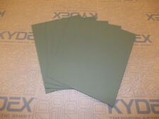 5 PIECES KYDEX T SHEET 420 X 297 X 2MM A3  (P-1 HAIRCELL OLIVE DRAB GREEN 32140)