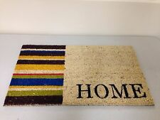 HOME STRIPE DOOR MAT COIR PVC BACKED TEXT DOORMAT STRIPEY ENTRANCE CA72