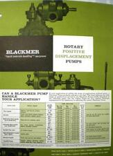 1969 Dover BLACKMER Pump Catalog ASBESTOS Packing Foods Liquids Processing Pumps