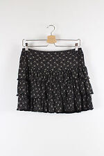 OASIS black & white floral layered summer mini skirt Size 10