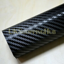 200mm x 1000 mm 3D Black Carbon Fiber Vinyl Car DIY Wrap Sheet Roll Film Sticker