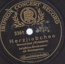 Isiphon Orchester spielt Carl Woitschach mit Gesang 1921 : Herzliebchen, Bauernw
