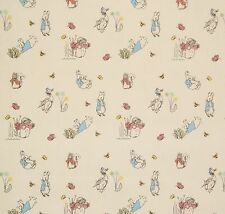 1/2YD BEATRIX POTTER SCENES PETER RABBIT & FRIENDS NURSERY HY COTTON FABRIC