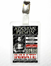 Bellatrix Lestrange Azkaban Prison ID Badge Harry Potter Cosplay Prop Comic Con