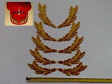 """5 Sets of Gold Rayon Leaf  Army General Symbol Embroidered Patches 2.6""""x6.5"""""""