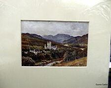 Vintage Print Sutton Palmer mounted to frame c1912 Balmoral Aberdeenshire