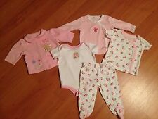 2 ADORABLE BABY GIRL OUTFITS SZ 3M OKIE DOKIE, CARTERS BOTH IN PERFECT COND!!