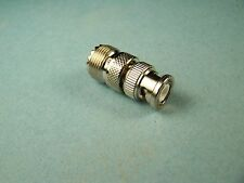 COAX ADAPTER UHF FEMALE SO-239 SO239 TO BNC MALE RF CONNECTOR NEW
