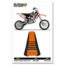 2002-2008 KTM SX 50 Black/Orange/Black SEAT COVER RIBBED GRIPPER by Enjoy MFG