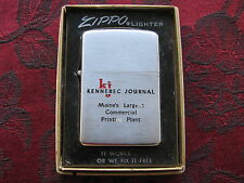 Zippo Lighter 1956 Advertising Kennebec Journal Maine w/Box