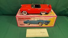 Vintage Fifties Ford Thunderbird Convertible Red 1956 Japan Friction Toy Car
