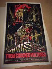 Ken Taylor THEM CROOKED VULTURES Melbourne Poster RARE! Screen Print Emek Phish