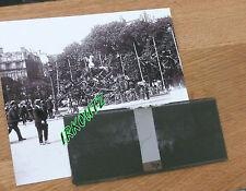 RARE NEGATIF PLAQUE  + PHOTO NETTOYAGE DES RUES DES DEBRIS  WWI 14 18