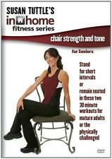SUSAN TUTTLE IN HOME FITNESS CHAIR STRENGTH AND TONE DVD EXERCISE SENIOR WORKOUT