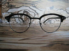 50s Black Clubmaster Retro Vintage nerd Geek clear lens fashion Glasses frames