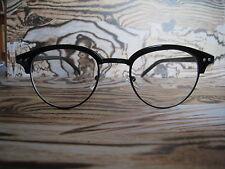 50s noir clubmaster rétro vintage nerd geek clear lens fashion lunettes cadres
