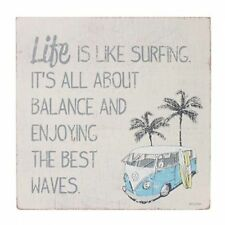 22 x 22cm KOMBI SIGN BALANCE INSPIRATIONAL WOODEN WALL ART GIFT IDEA ++