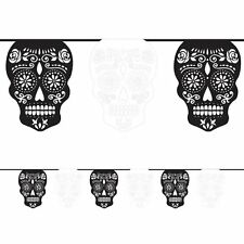 Halloween Room Decoration Day of the Dead Skull Garland Banner 3.65m NEW  P9746