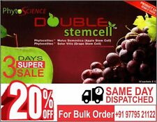 Phytoscience Double StemCell,anti ageing ( 140 Sachets )10 pack( apple & graphes