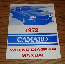 1972 Chevrolet Camaro Wiring Diagram Manual 72 Chevy