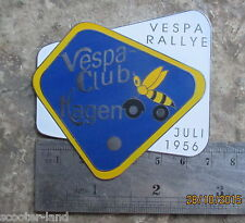 BADGE VESPA RALLYE CLUB HAGEN 1956 OIL FOR SALE VINTAGE CLASSIC SCOOTER