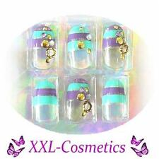 20 Airbrush French Tips Designer Tips Nails 1x Feile+Rosenholz Gratis DF-135