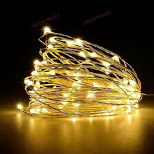 3M 30LED Warm White Light String Strip Copper Wire Fairy Lamp 3AA Case Xmas