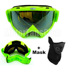 New Green Helmet Motorcycle Motocross Off Road Goggles Sports Glasses With Mask