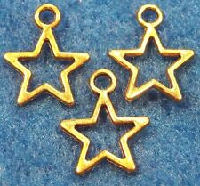 100Pcs. WHOLESALE Tibetan Antique Gold Small STAR Charms Pendants Finding Q0428