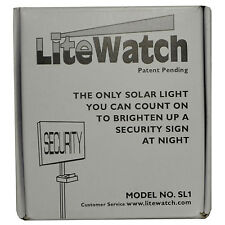 New Lite Watch Solar Powered Night Light Security Address Sign LED Yard Lawn